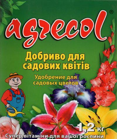 Удобрение Agrecol гранулированное для садовых цветов