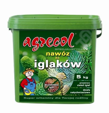 Удобрение Agrecol гранулированное для хвои от пожелтения игл