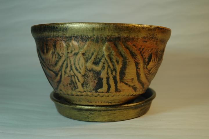 Горшок для растений, керамика, 1.1 литр