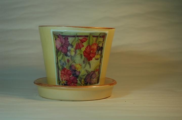Горшок для растений, керамика, 0.5 литр